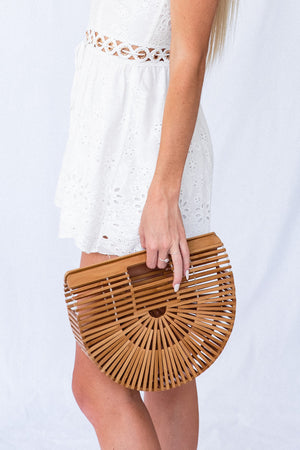 TAN BAMBOO BASKET