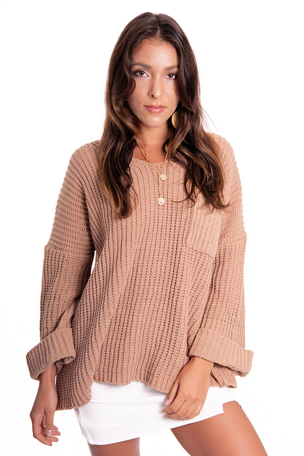 Overnight Tan Knit Jumper