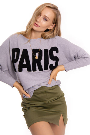 Paris Knit Jumper Grey