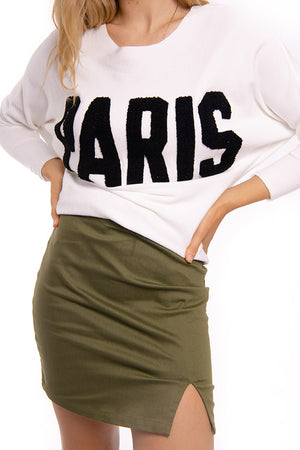 White Paris Knit Jumper