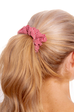 Red Striped Scrunchie