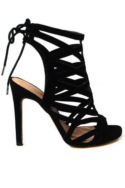 BLACK SUNRISE STRAPPY HIGH HEEL