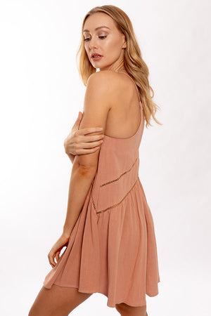 Sculpted Dress Peach