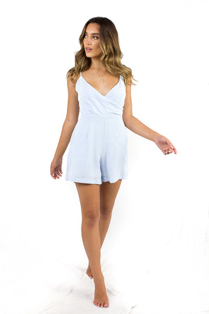 Easy to Love Playsuit Blue