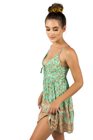 Sing It Back Dress Green