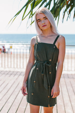Sky Alley Khaki Dress