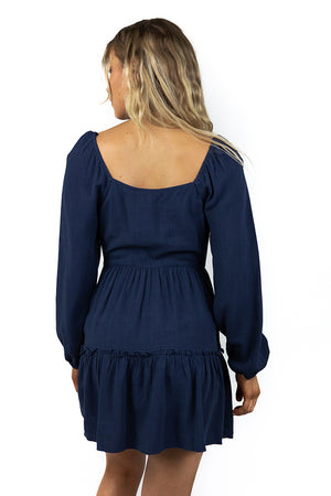 Sweet and Dandy Dress Navy