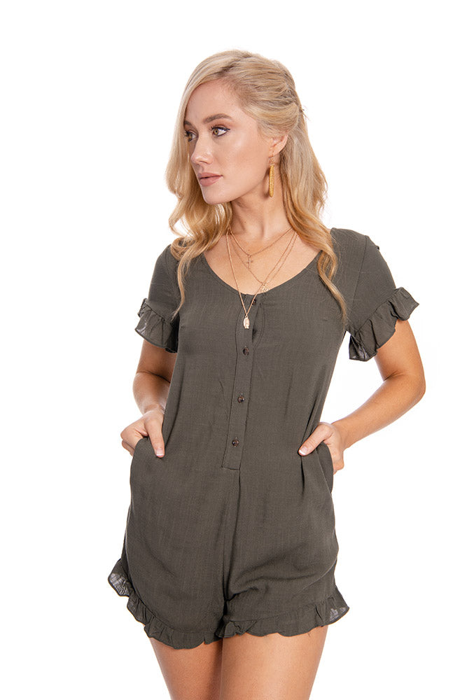 The Formidable Playsuit Khaki