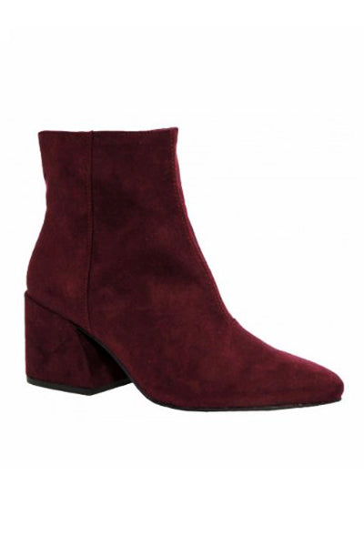 Montview Plum Suede Ankle Boot