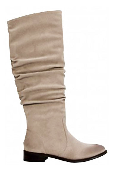 Rawson Beige Suede Knee High Boot