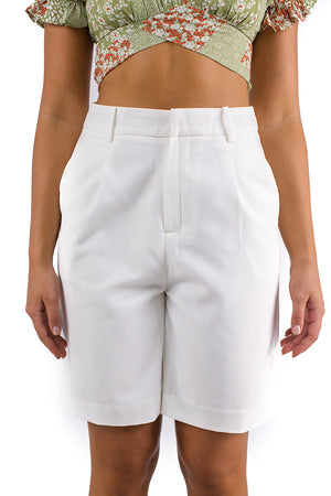 Superwoman Shorts White