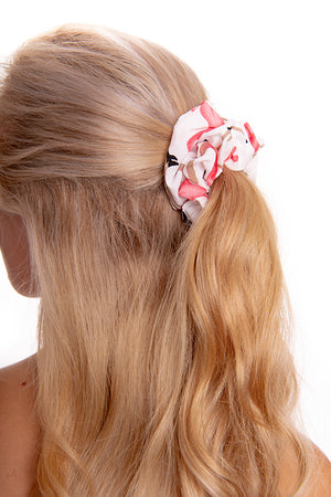 White Flamingo Scrunchie