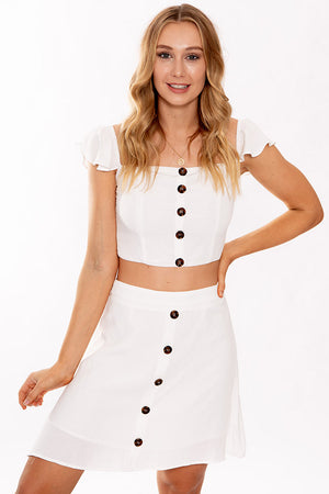 Womans World Skirt White