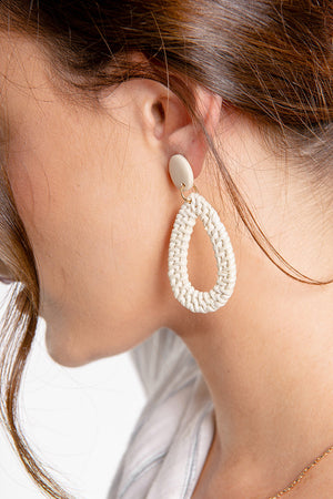 World of Weave Earrings Cream