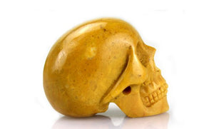 YELLOW JADE CRYSTAL SKULL