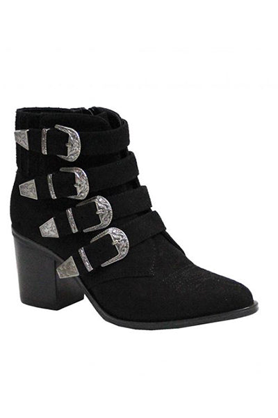 Bexar Black Buckles Boot