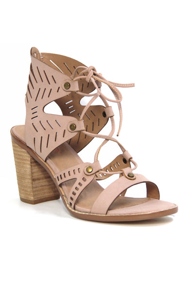 PALOMAR BEIGE STACKED HEEL SANDALS