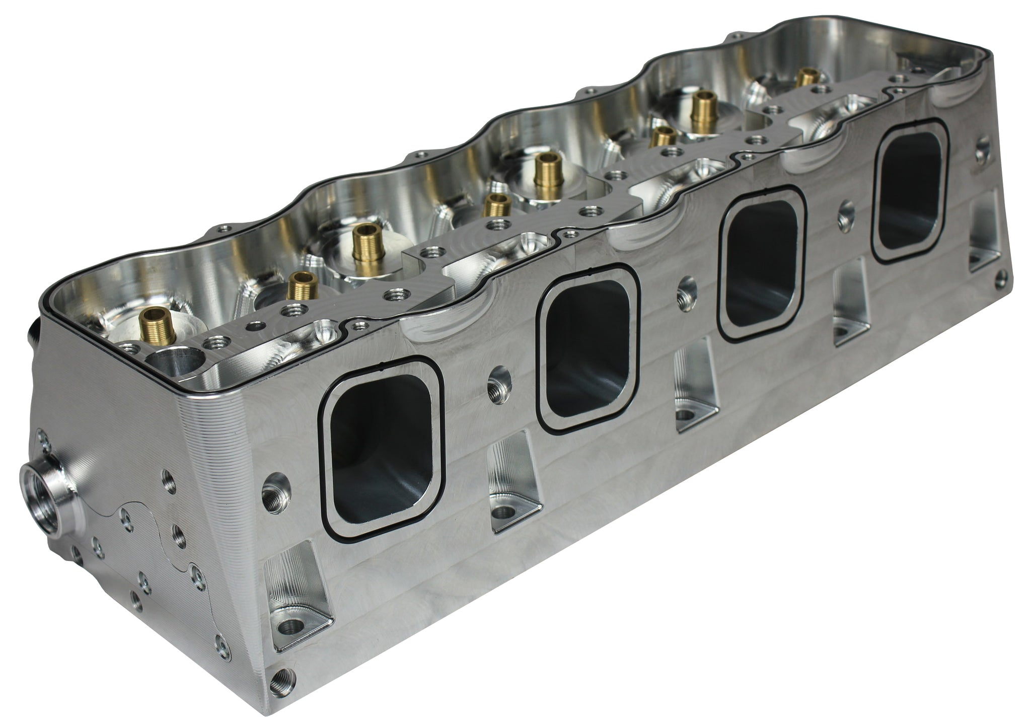 LS-Edge Billet Canted Cylinder Heads - Dry Deck