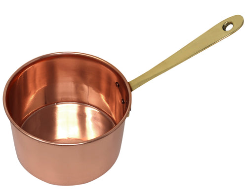 Copper Saucepan With Brass Handle 1450 ML