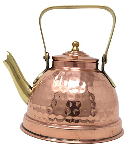 Pack Of 12 Indian Copper Kettle For Warming Water Tea And Coffee 550 ml