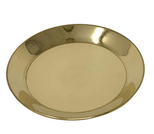 Pack of 6 Brass Puja Thali