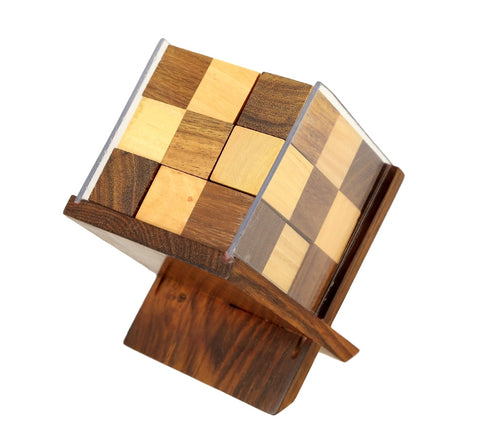 Indian puzzle cube wooden game for office table corporate gifts