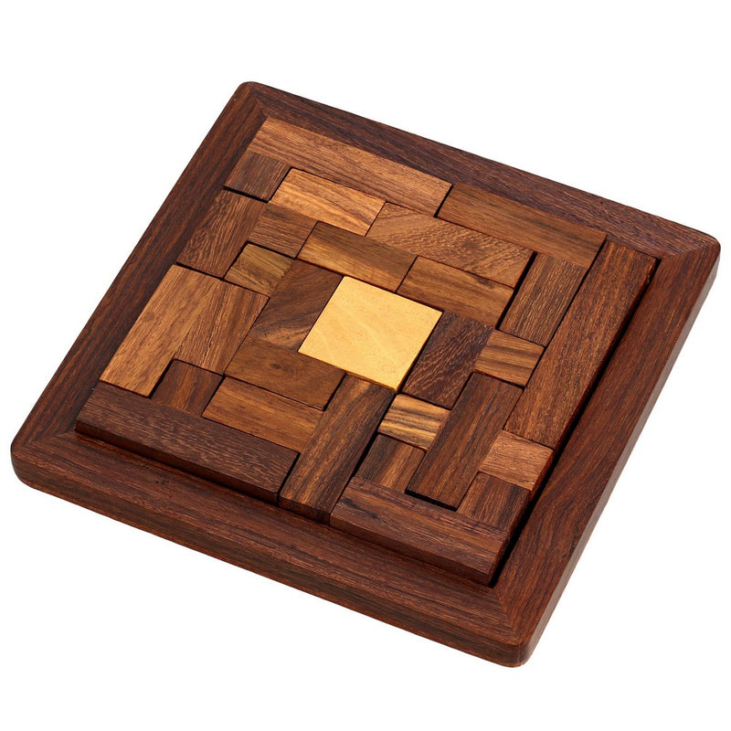 Handmade Indian Wood Jigsaw Puzzle - Wooden Toys for Kids - Travel Games for Families - Unique Gifts for Children
