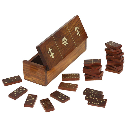 Wooden dominoes box set board games for holidays and Diwali