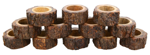 Wooden Napkins rings set of 12 for dining table decorations from India