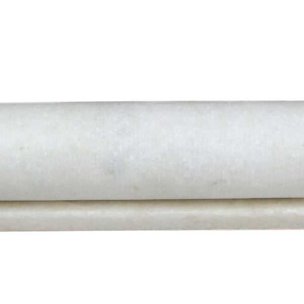 White Marble Rolling Pin (With Stand)