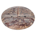 Shalinindia Handmade Brown Forest Marble Soap Dishoval Soap Dishes 5 X 4 X .5 Inch - Artisan Crafted In India