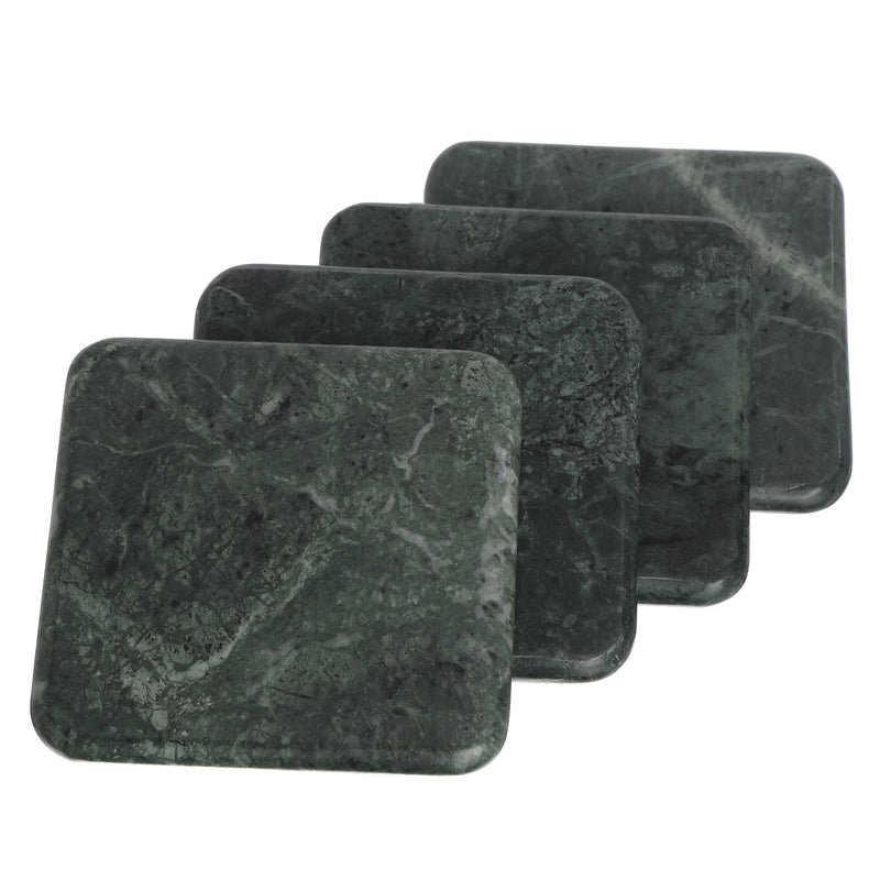 Marble square coasters set 4 for beverage beer drinks handmde in India