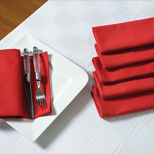 "Solid Color Cotton Dinner Napkins - 20"" x 20"" - Set of 4 Premium Table Linens for the Dining Room - Maroon TN04-Maroon"