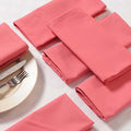 Solid Color Cotton Dinner Napkins - 20 inch x 20 inch - Set of 12 Premium Table Linens for the Dining Room - Rose