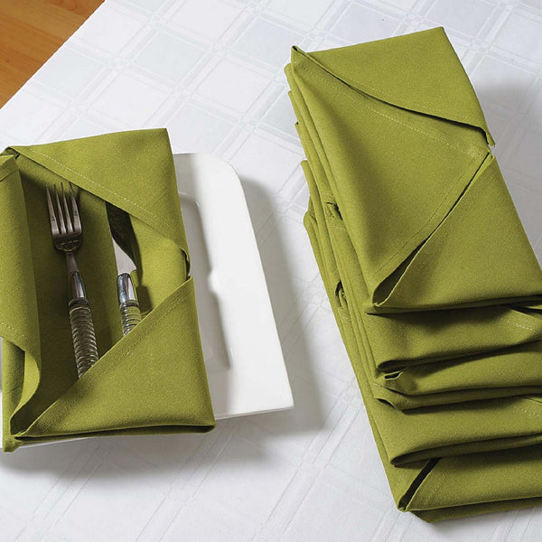 Green Napkins Set of 6; Cotton Table Linens; Spring Decorations for Home TN16-Green