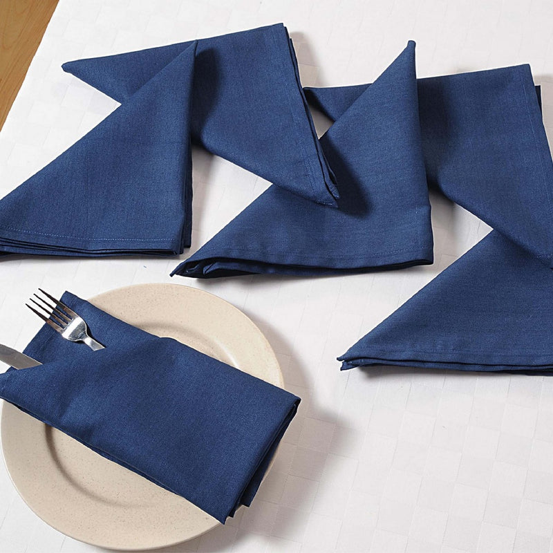 Navey Blue Set of 6; Cotton Table Linens; Spring Decorations for Home