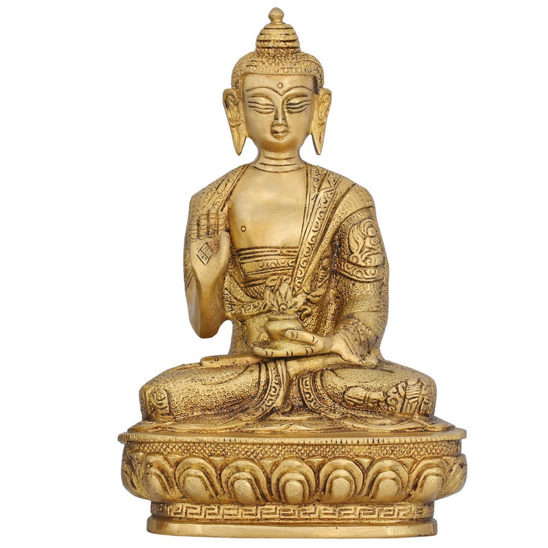 Sitting Buddha Statue Collectible And Figurines Religious Gifts India