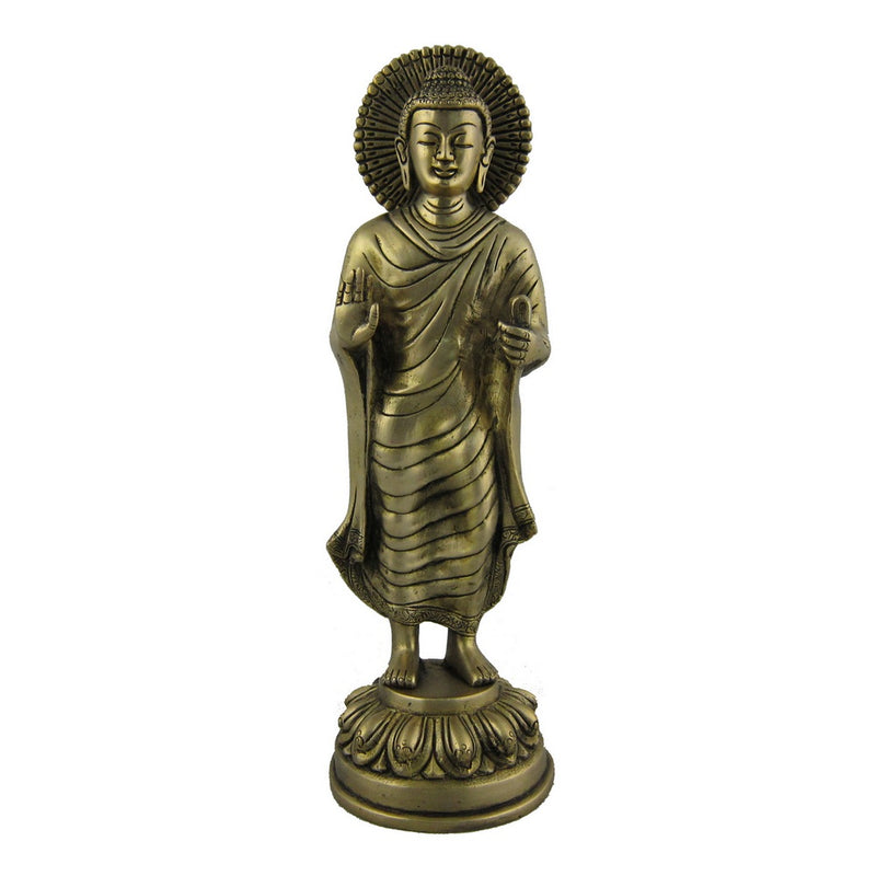 Statue of Standing Buddha Figurines in Brass