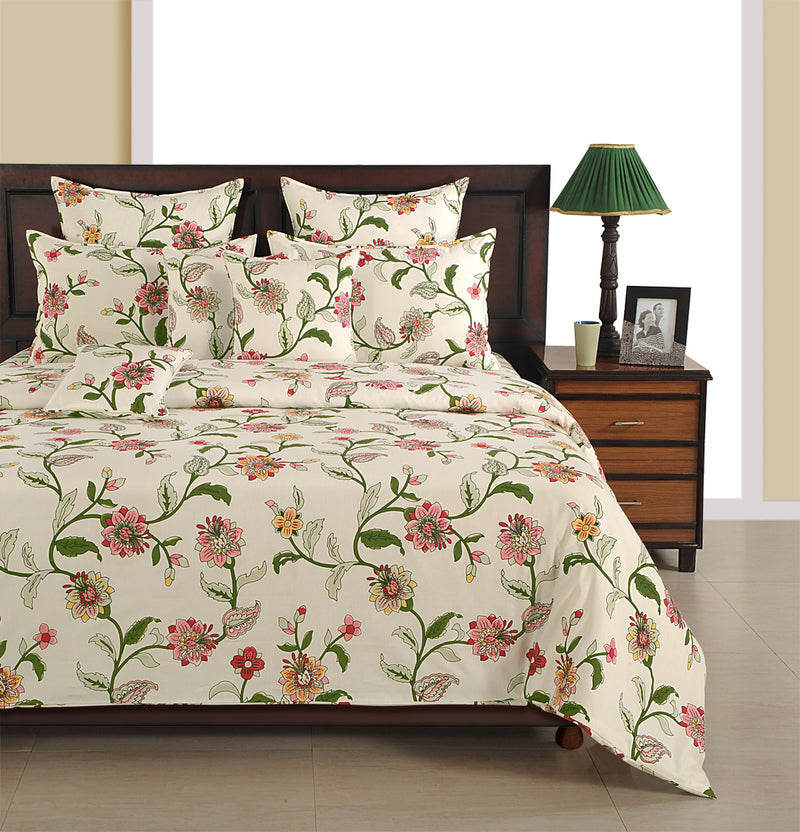 ShalinInida Bedroom Decoration Bedding Set of Duvet Cover Pillowcase Shams Cushion Cover for Queen Bed