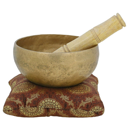 Buddhist Touch Bell Metal Art Indian Singing Bowl For Meditation And Healing Through Vibration 5.5 Inch