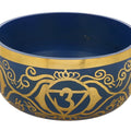 ShalinIndia Ajna Indigo Buddhist Singing Bowl - Tuned to the 6th Chakra Third Eye Chakra - Fine Quality Brass - 5 Inches - Ideal for Meditations Ayurveda & Yoga