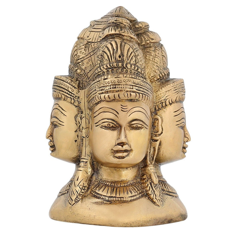 Buddhist Art Décor Four Faces Lord Buddha Sculptures And Figurines Indian Art 5 inch