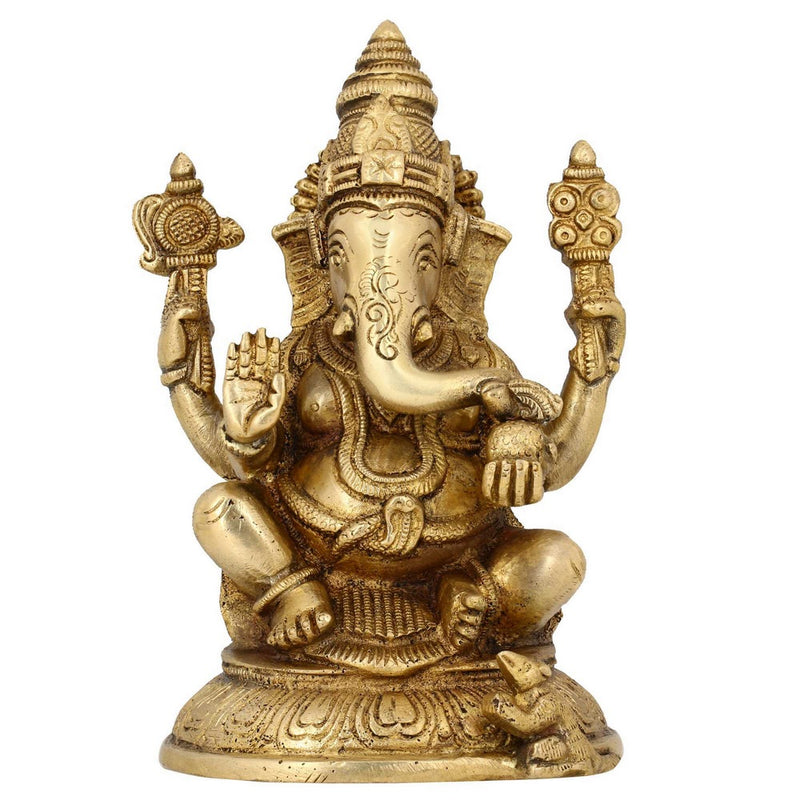 Hindu God Statues Ganesh Indian Religious Home Decoration Puja Items 6.5 Inches
