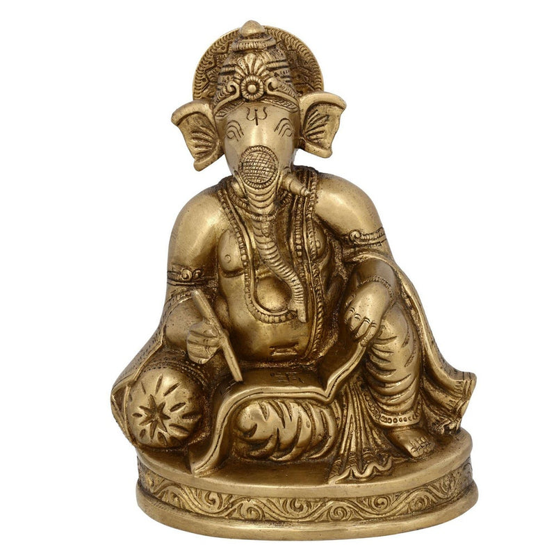 Hindu God Ganesh Statue Sculpture 5 Inches X 3.25 Inches X 6.5 Inches