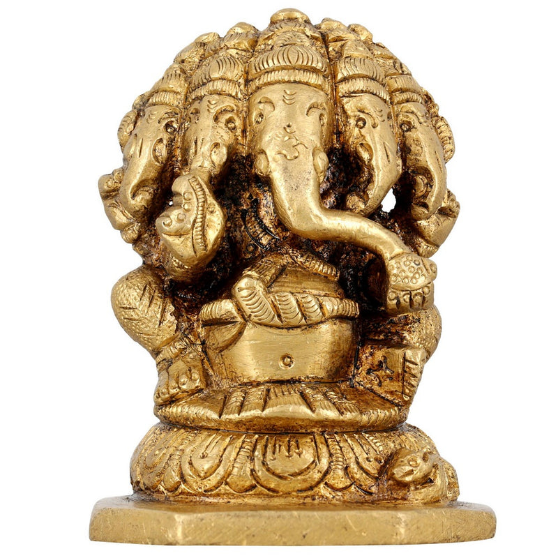 Ganpati Ganesha Brass Figurines from India 2 x 2 x 3 Inches by ShalinIndia