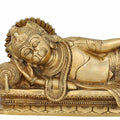 Large Brass Statue of Hanuman Sleeping Sculpture for Home Décor Hindu 4 Inch