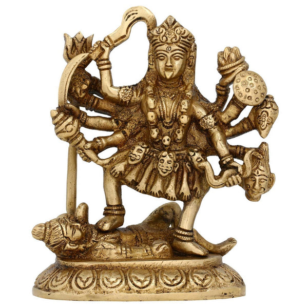 Hindu Goddess Kali Idol For Home Hinduism Symbol Brass Statue  6 Inches