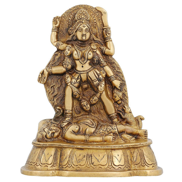 Ma Kali Goddess Statue Hindu Idol for Puja Worship at Home Mandir 7 inch,1.5 Kg