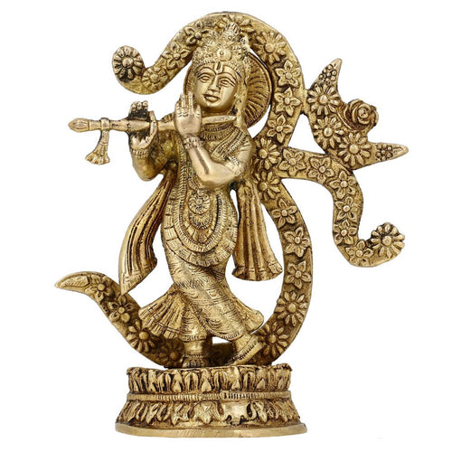 ShalinIndia Idol of Krishna OM Symbol in Hinduism