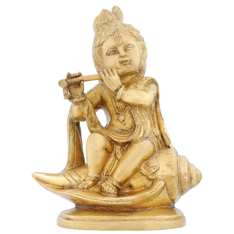 India Statue Hinduism Décoration Lord Krishna Religious Items For Puja 7.75 Inch1.8 Kg